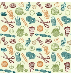 Sewing And Needlework Seamless Pattern vector image vector image