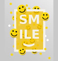smiley faces design elements vector image vector image