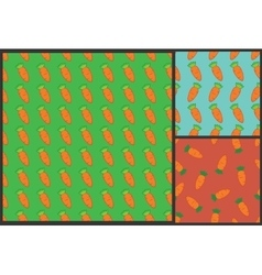 carrot pattern for kids summer background vector image
