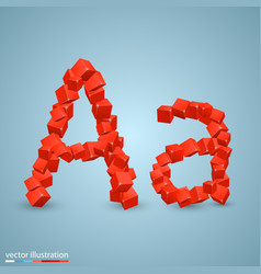 cubes as a symbol font a vector image vector image