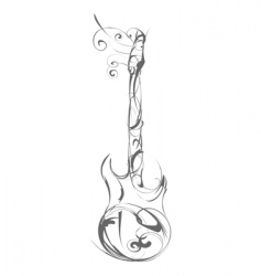guitar made out of decorative vector image vector image