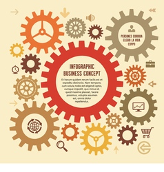 Infographic Business Concept with Gears vector image