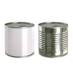 tin can mock up 3d realistic icon set vector image vector image