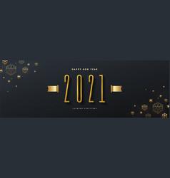 2021 new year logo greeting design vector image