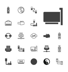 22 universal icons vector