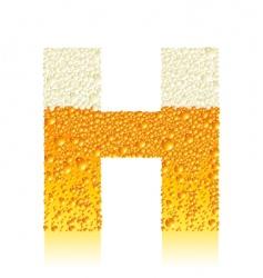 Alphabet beer h vector