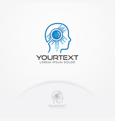 artificial intelligence logo vector image