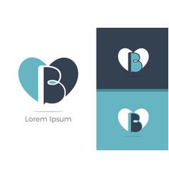 B letter logo design vector