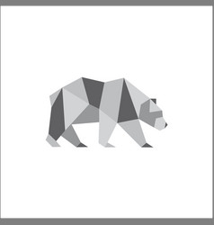 bear logo icon symbol triangle geometric polygon vector image