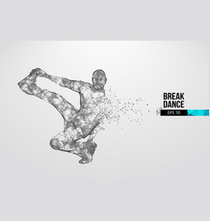breake dancer teenager dance hip-hop vector image