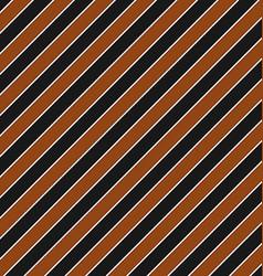 Brown black seamless diagonal stripe pattern vector image
