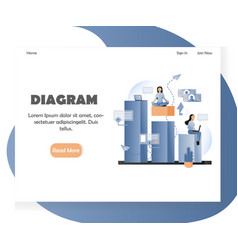business diagram website landing page vector image
