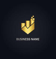 business graph progress logo vector image