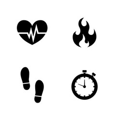 cardio simple related icons vector image