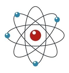 Cartoon atom icon vector
