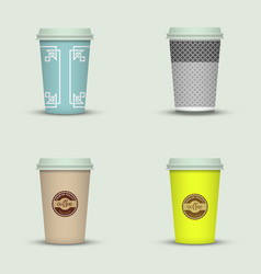 Coffee cup to go creative cup template vector