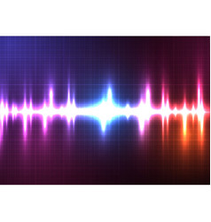 Color light music equalizer vector