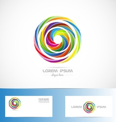Colored circle abstract logo vector image