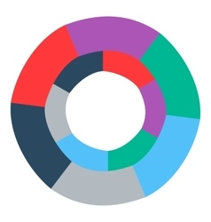 Colorful circle icon flat style vector