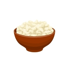 Cottage cheese icon cartoon style vector