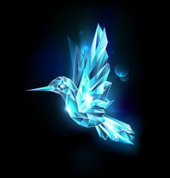 Crystal hummingbird vector