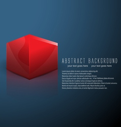 Cube business background vector