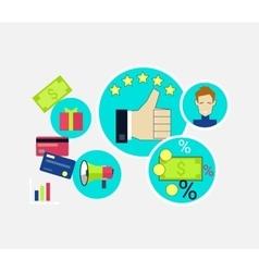 Customer Relationship Concept Design vector