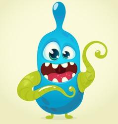 Cute cartoon monster character vector