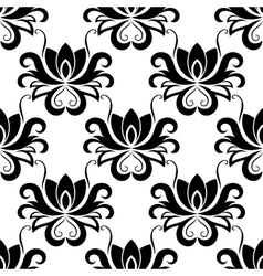 Dainty floral seamless pattern with bold flowers vector