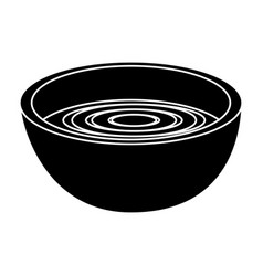 Dish with soup icon vector
