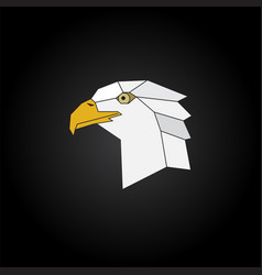 eagle head abstract isolated on a black background vector image