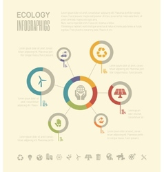 Ecology Infographic Template vector image vector image