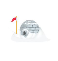 eskimo igloo with heavy snow vector image