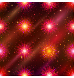 Fireworks seamless pattern vector