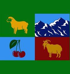 Flag kalbajar in azerbaijan vector