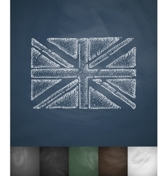 Flag of england icon hand drawn vector