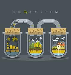 Flat Ecosystem Oxygen vector
