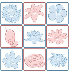 flower design elements vector image