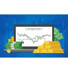 Gold price in flat style vector