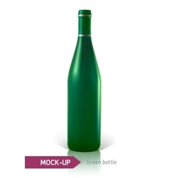 green bottles of wine or cocktail vector image