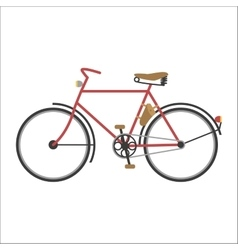 Hipster bicycle flat vector