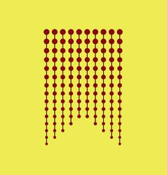 Icon in flat design garland vector