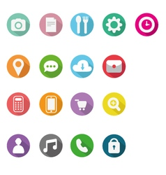 Icons flat design vector
