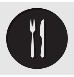 Information icon - cutlery fork and knife vector