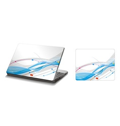 Laptop sticker skins vector
