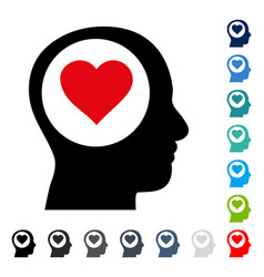 love thinking head icon vector image