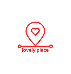 lovely place like red pin pointer vector image