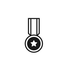 medal icon graphic design template vector image
