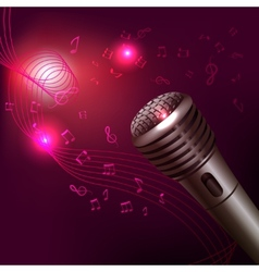 Music background with microphone vector image