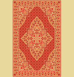 Orange template for carpet vector